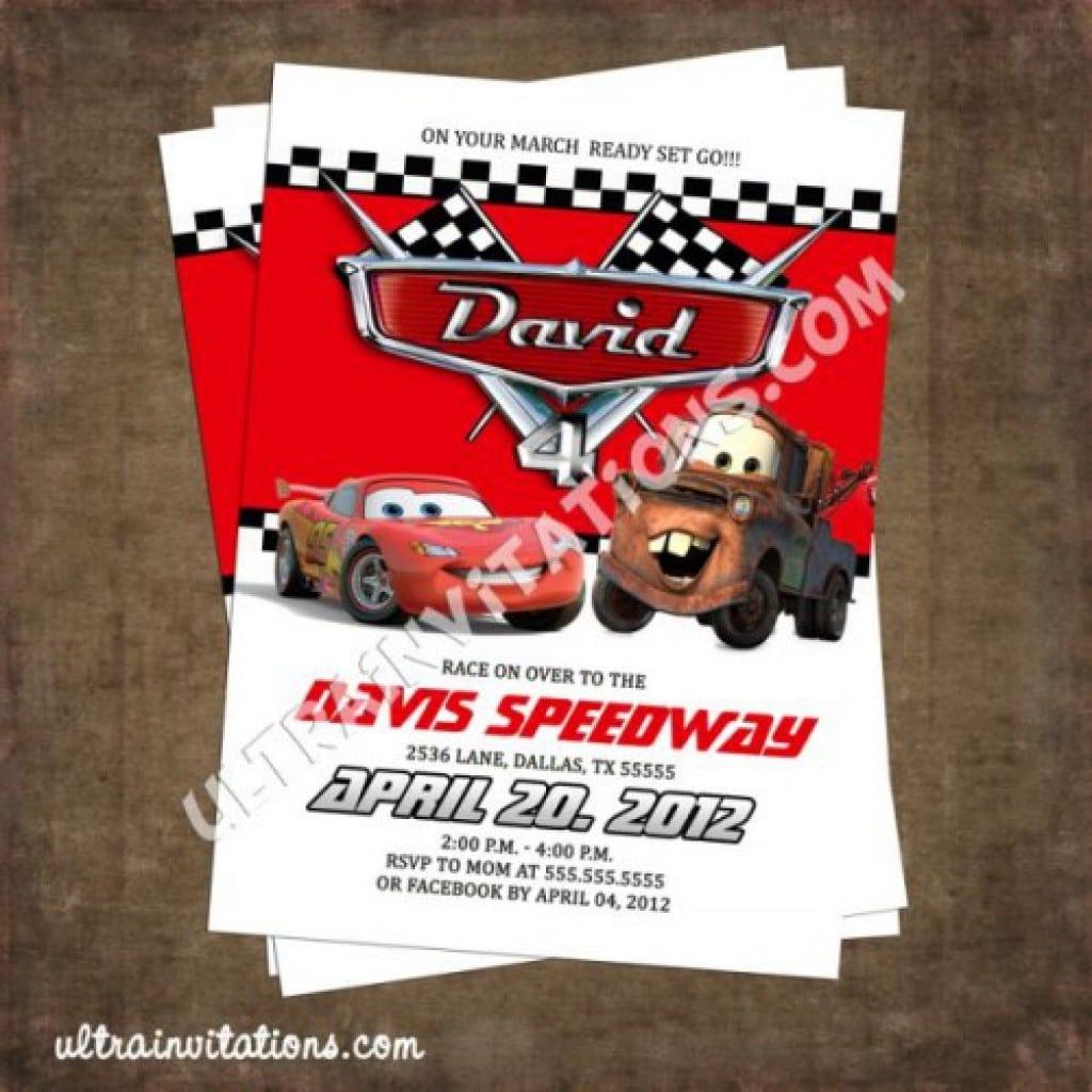 Disney Car Invitation Template 4