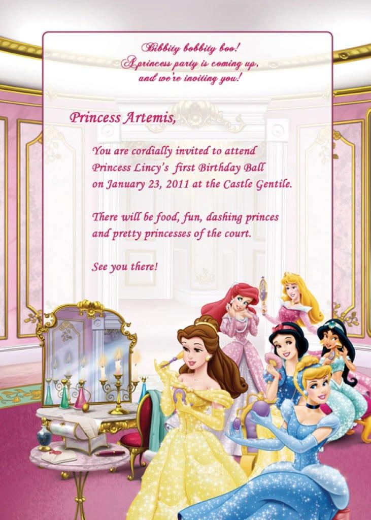 printable disney birthday invitations