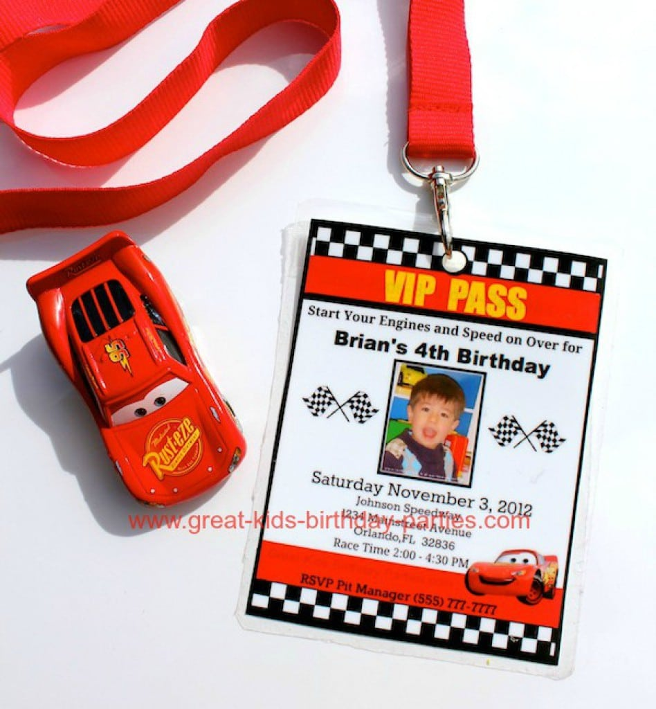 Disney Cars Invitation Free Download 3