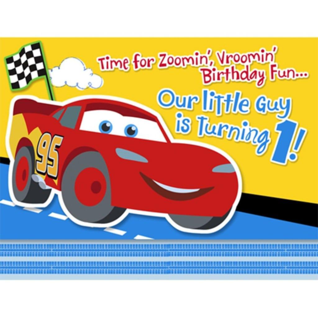 Disney Cars Invitation Templates 2