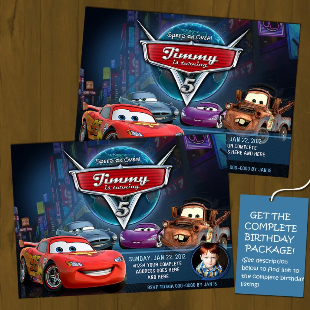 Disney Cars Invitations 3