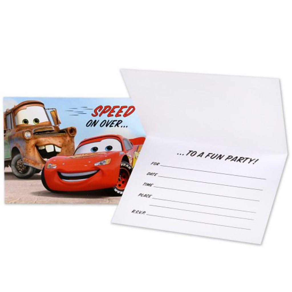 Disney Cars Invitations 4