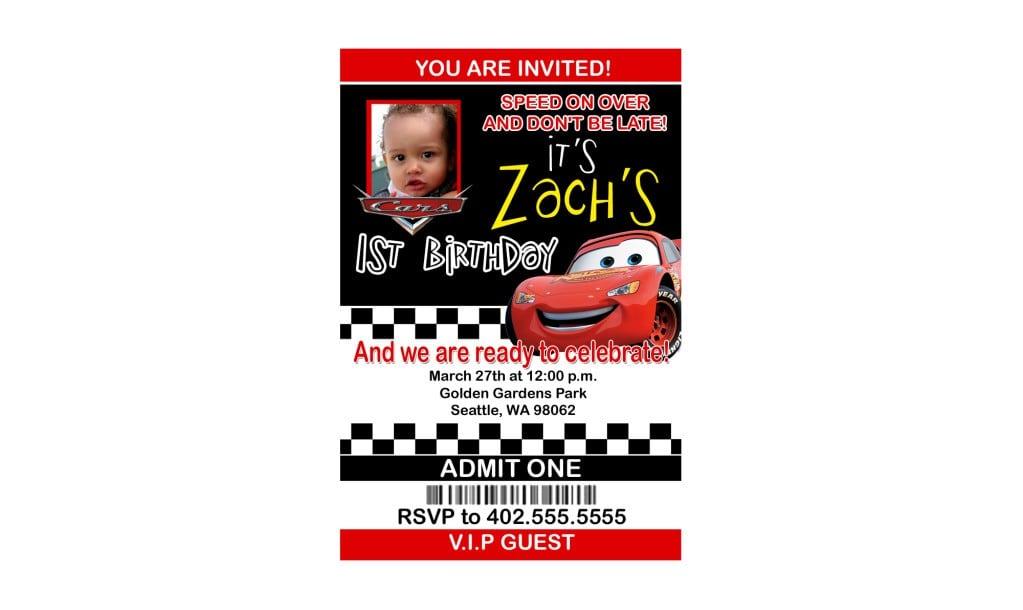Disney Cars Invitations 5
