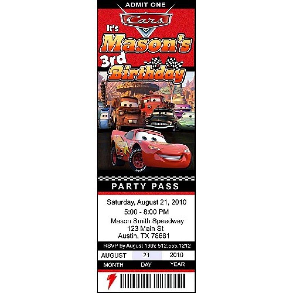 Disney Cars Invitations