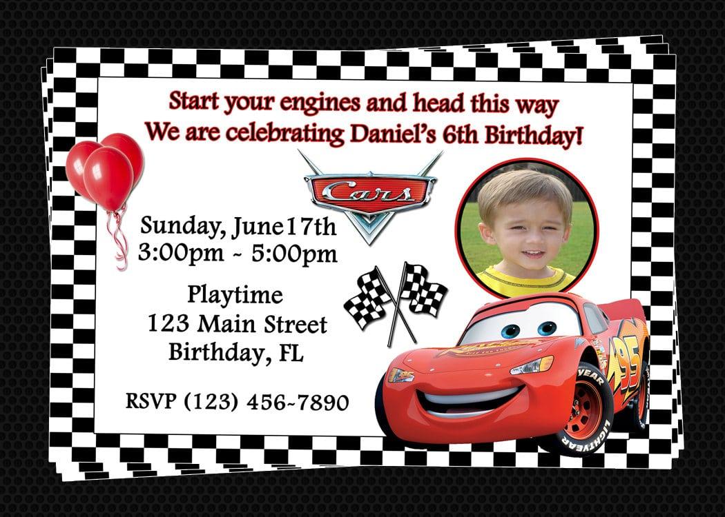 Disney Cars Invitations Free