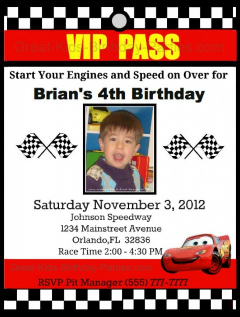 Disney Cars Invitations Templates Free 2