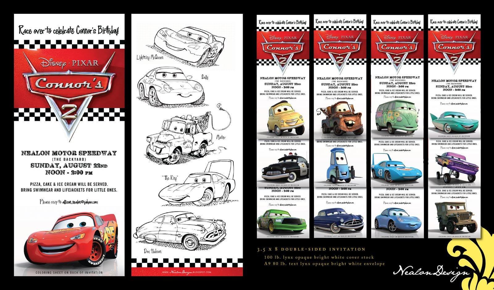 cars invitations template