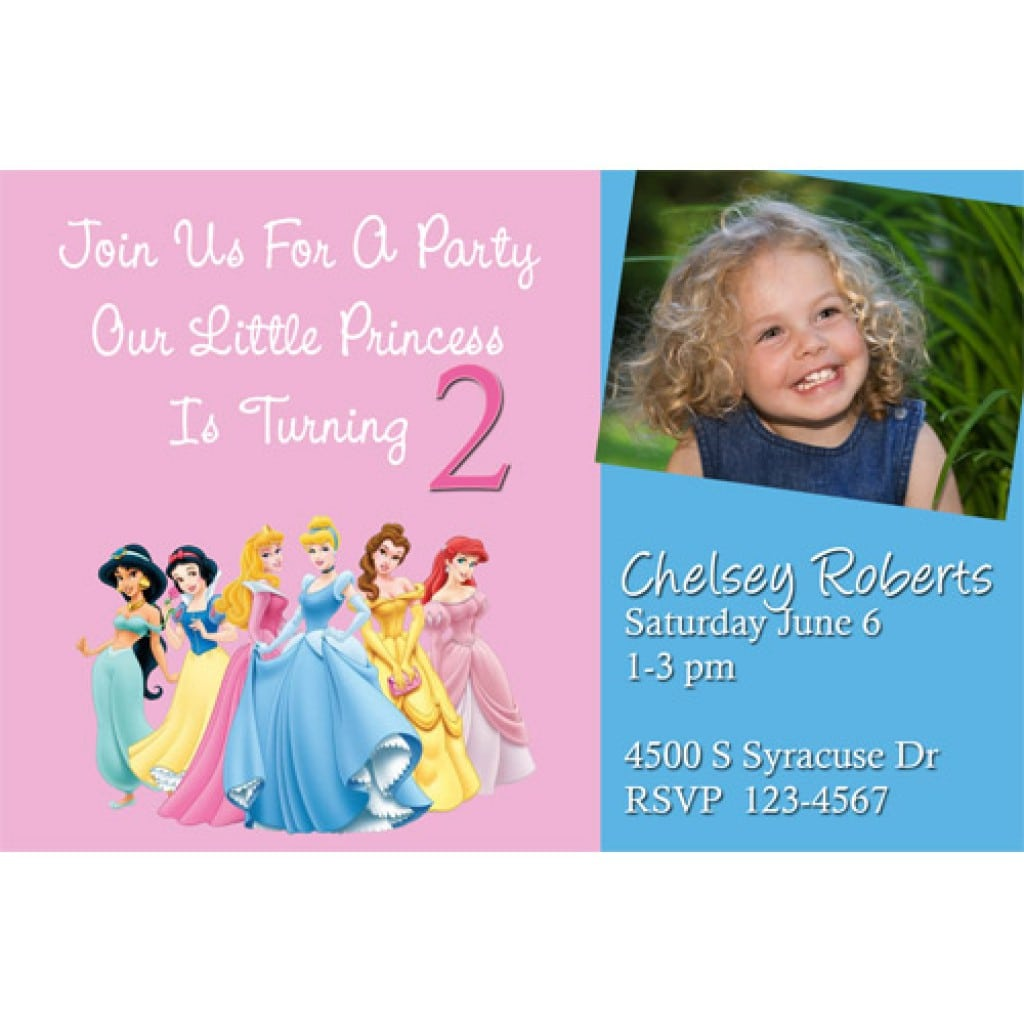 Disney Princess Birthday Invitations 3