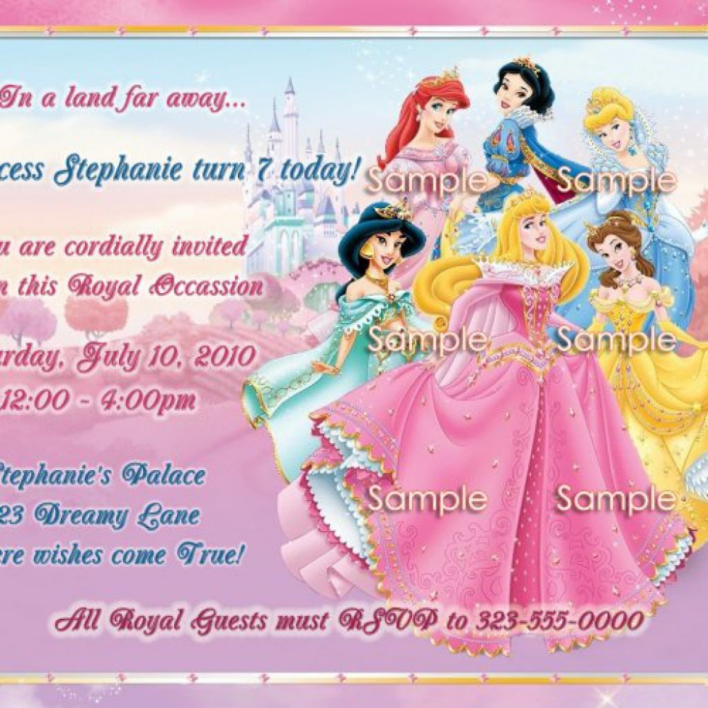Disney Princess Birthday Invitations 4