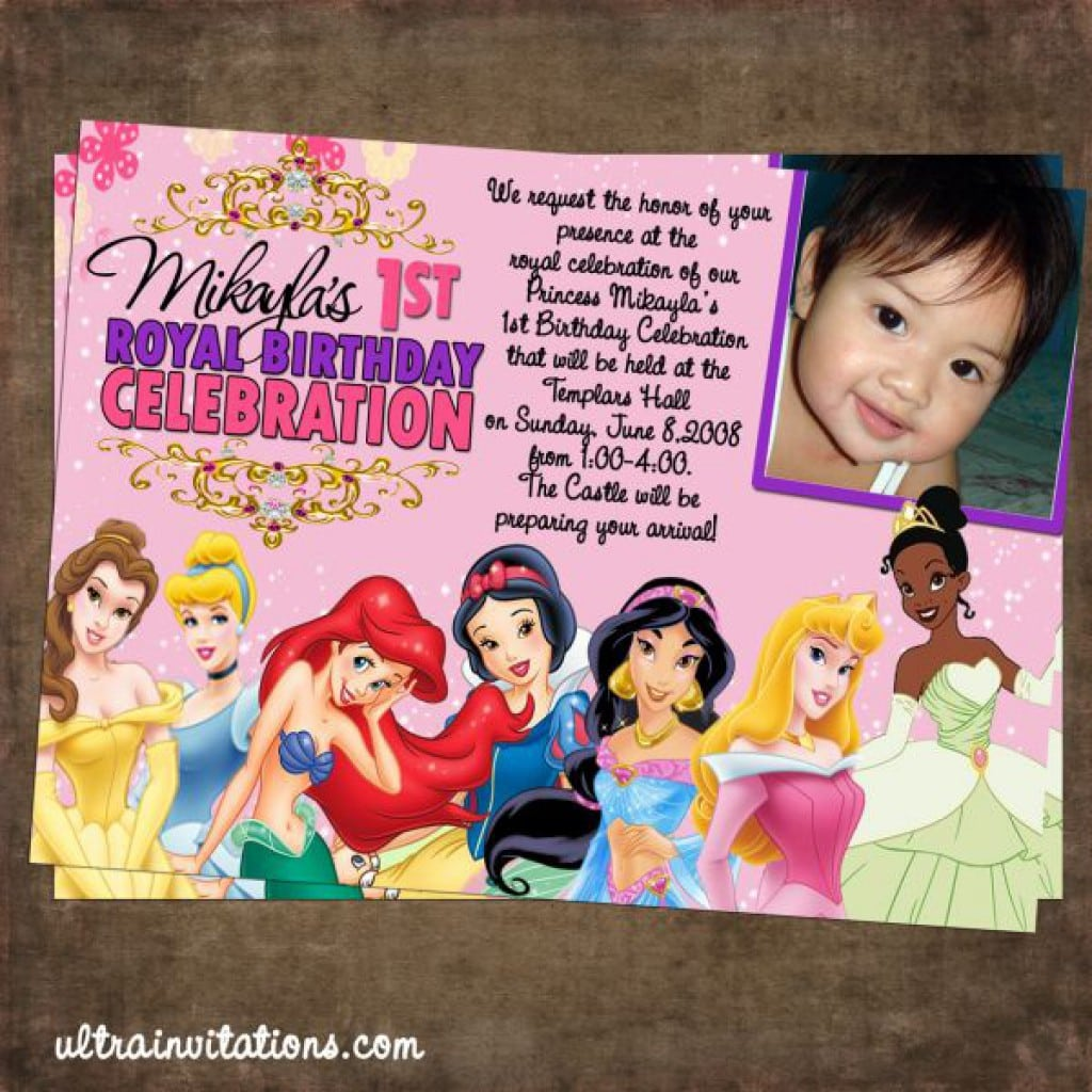 Disney Princess Birthday Invitations 5