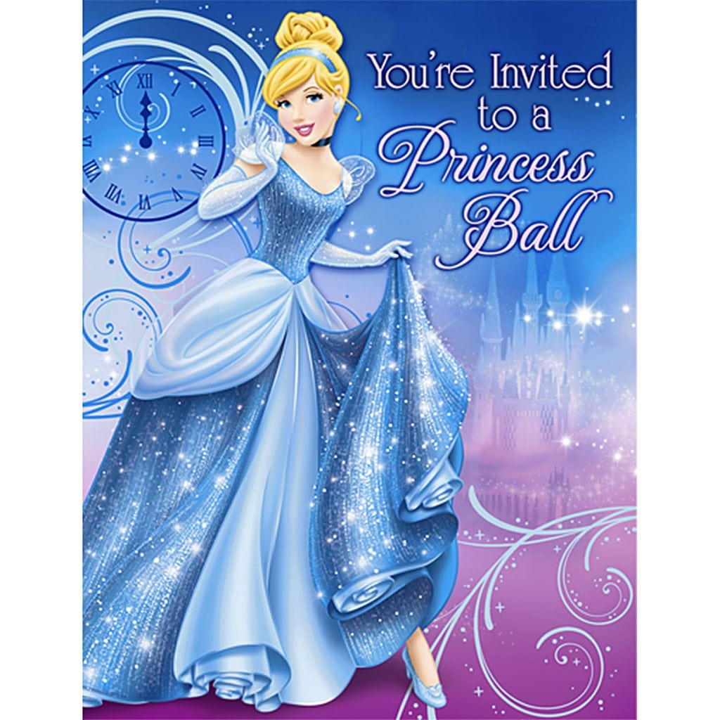 Disney Princess Invitation Layout 3