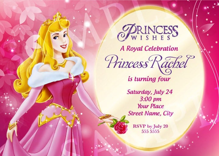 Disney Princess Invitation Layout 5