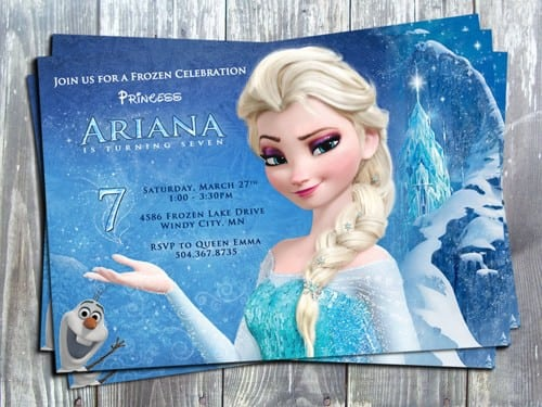 Disney Princess Invitation Layout