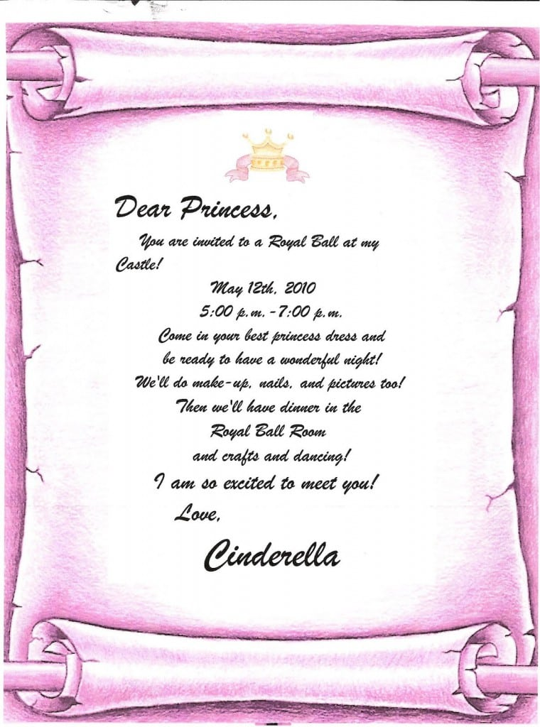 disney princess invitations free template