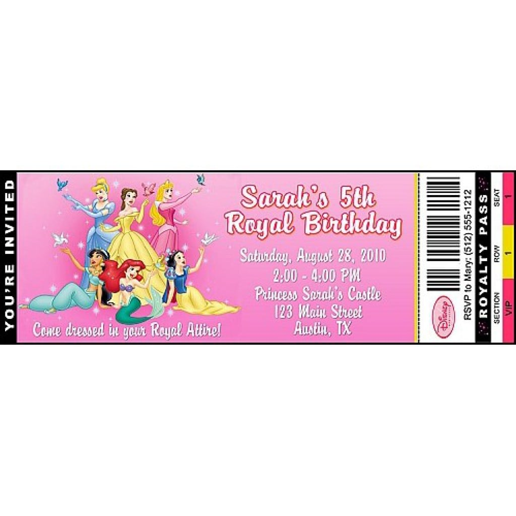 Disney Princess Invitations Free Template 4