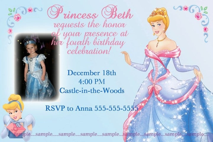 Disney Princess Invitations Templates Free 5