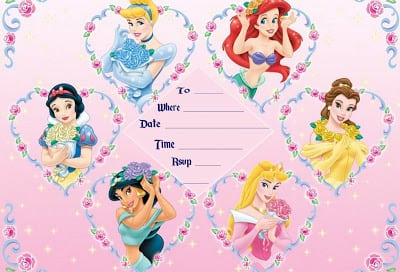 Disney Princess Invites Printable Free – Disney Princess Party Invitations Printable