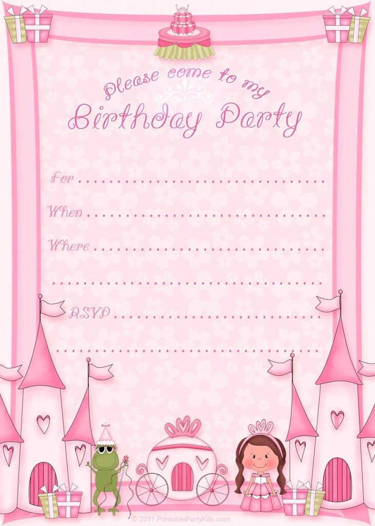 Disney Princess Party Invitations Templates 2
