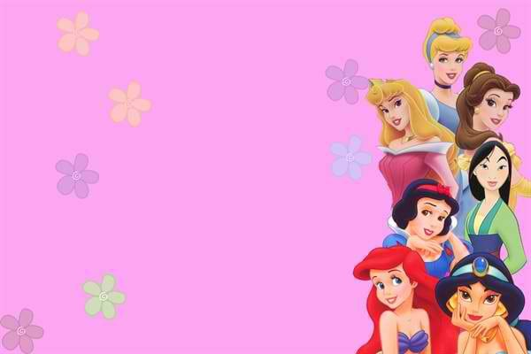 Disney Princess Party Invitations Templates 4