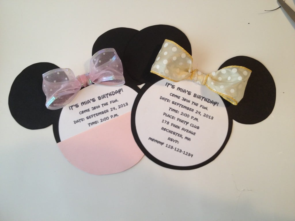Minnie Mouse Invitations Format