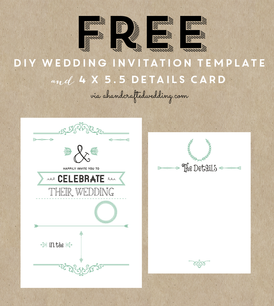 diy wedding invitation templates download
