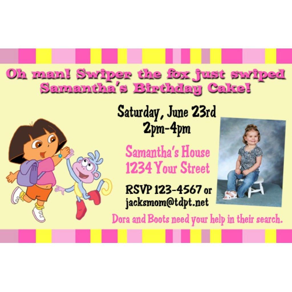 Dora Invitation Ticket 2