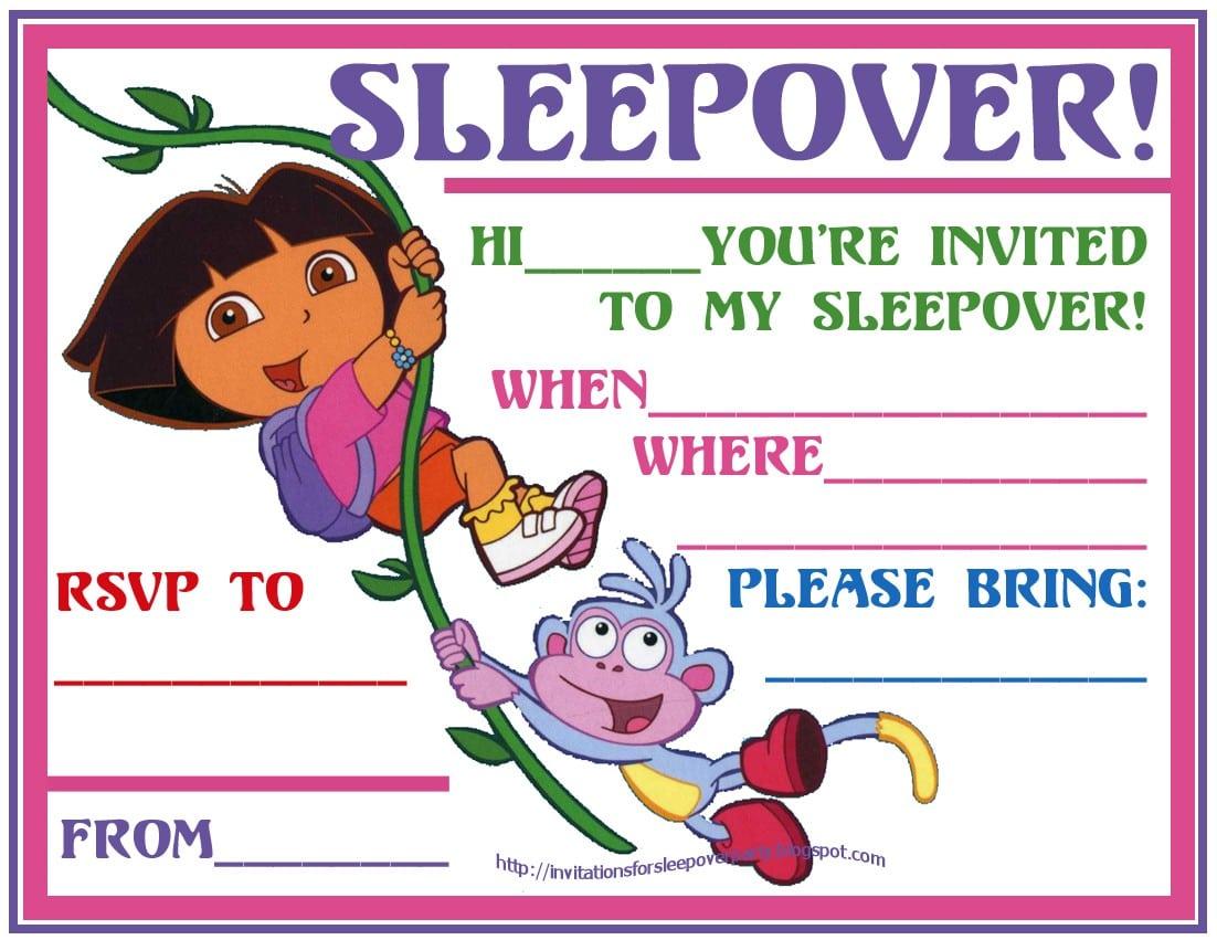 Dora Invitation Ticket 4