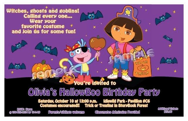 Dora Invitation Ticket