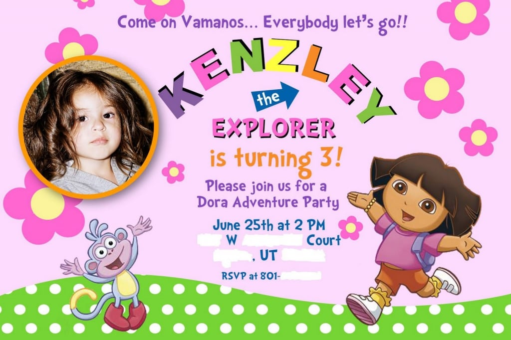 Dora Invitations Template Free 400 x 266 640 x 426