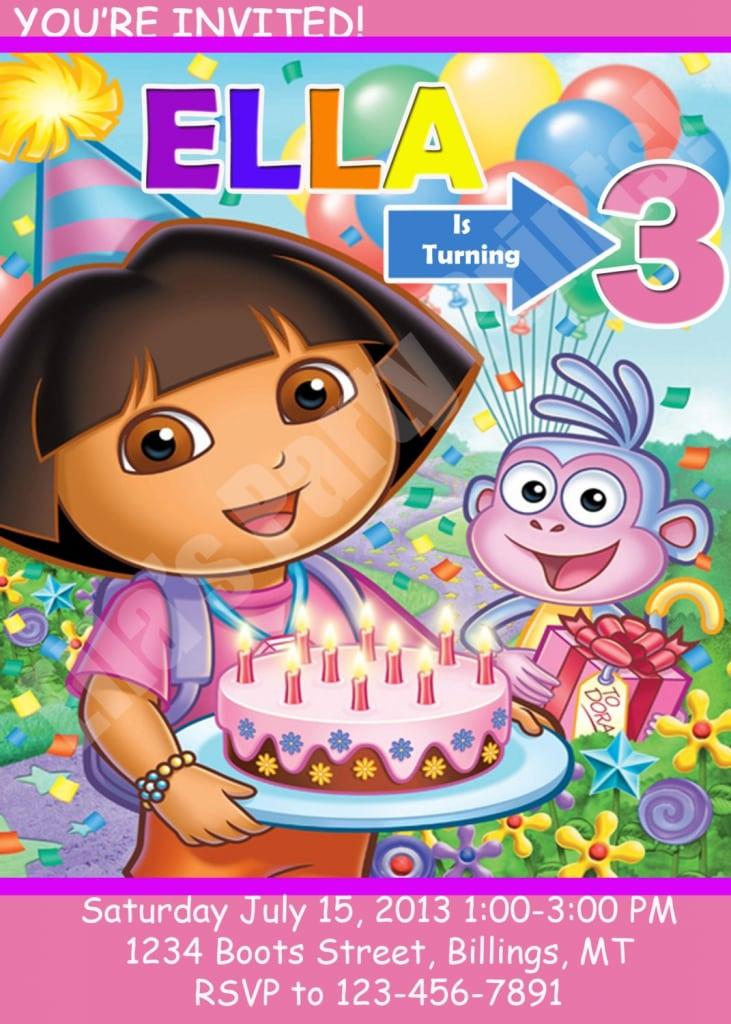 Dora Birthday Invitation Templates Free. Written by Sandy. Sponsored Links. Dora The Explorer Birthday Invitations Templates Free