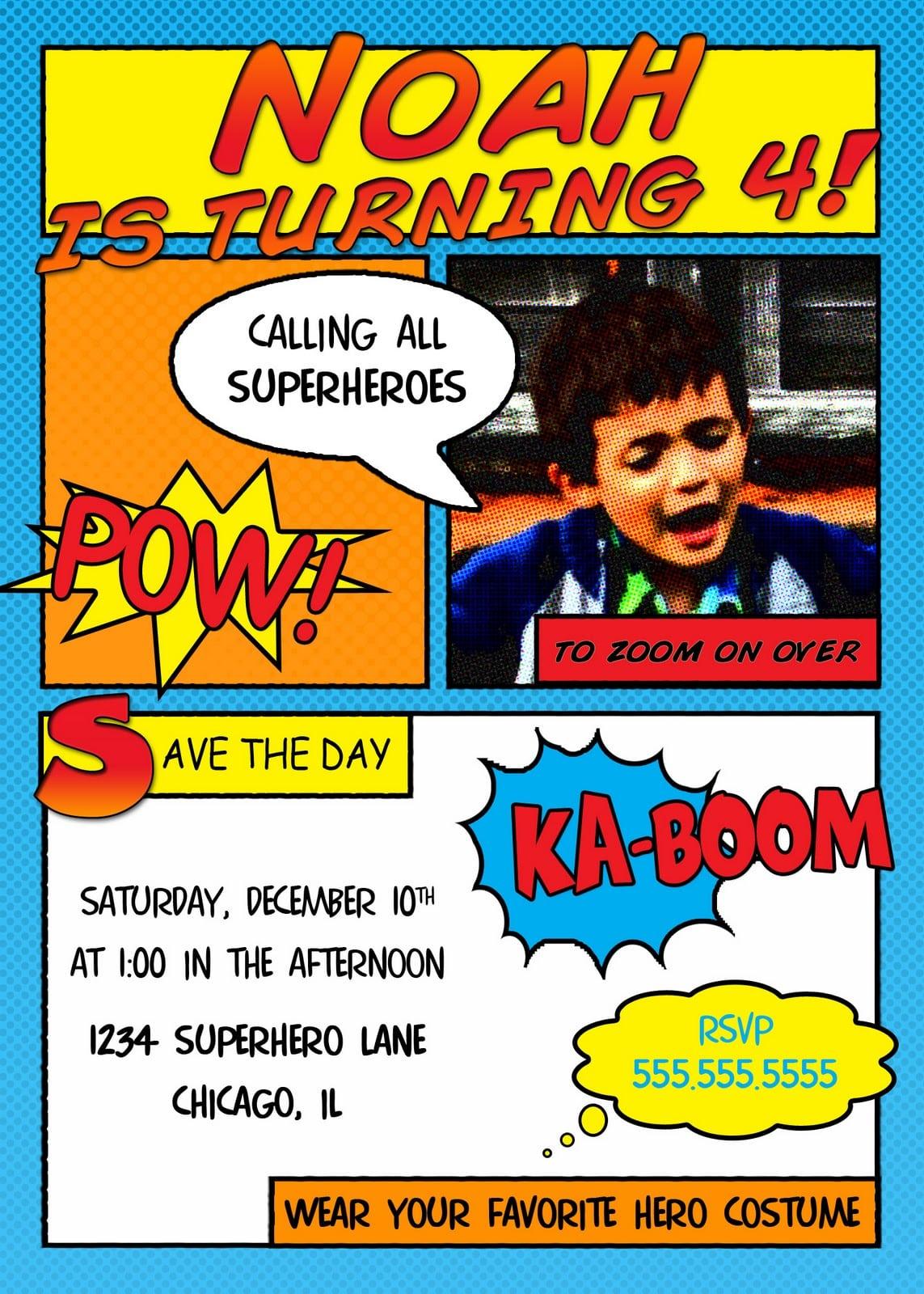 Download Free Superhero Invitation Templates