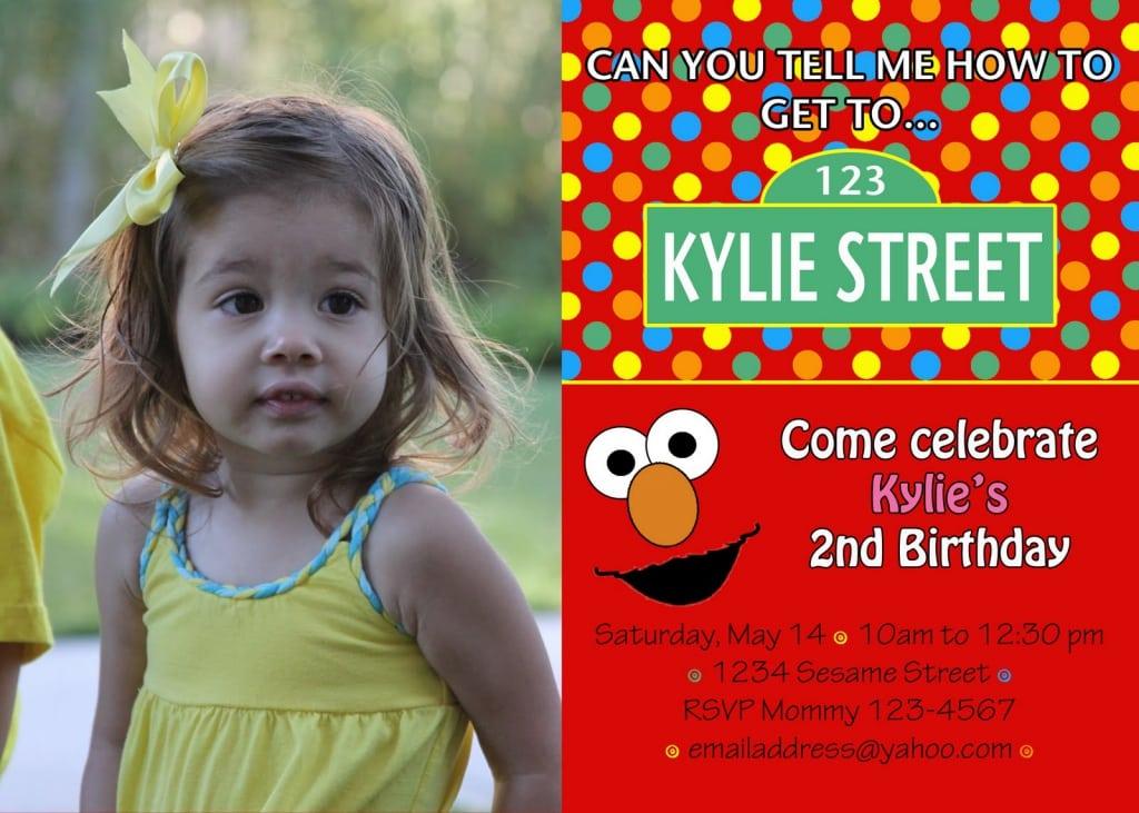 Elmo Birthday Invitation Template Free