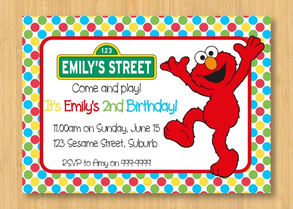 Elmo Birthday Party Invitations Free Printable