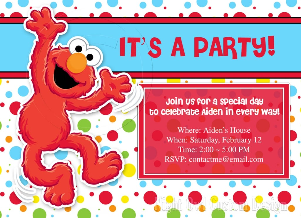 Elmo Birthday Party Invitations Personalized