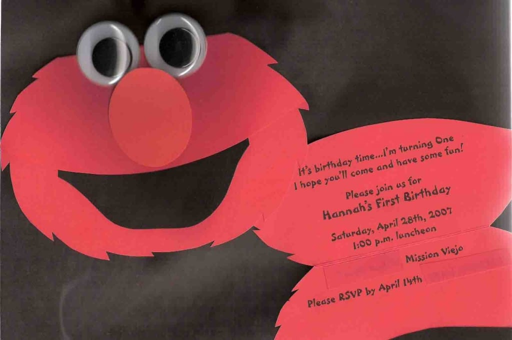 Elmo Birthday Party Invitations Wording