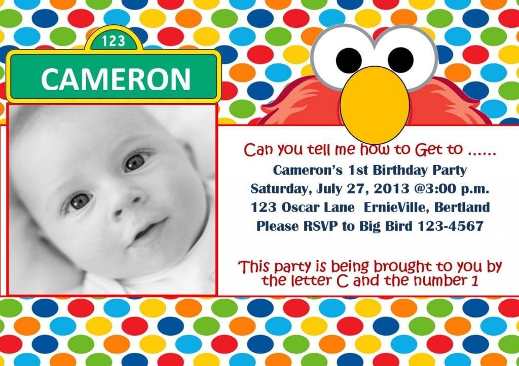 Elmo Invitation Templates Free