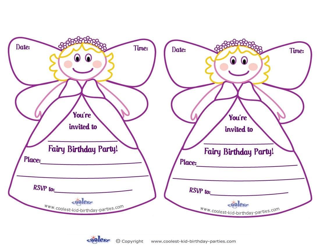 Fairy Birthday Party Invitations Free