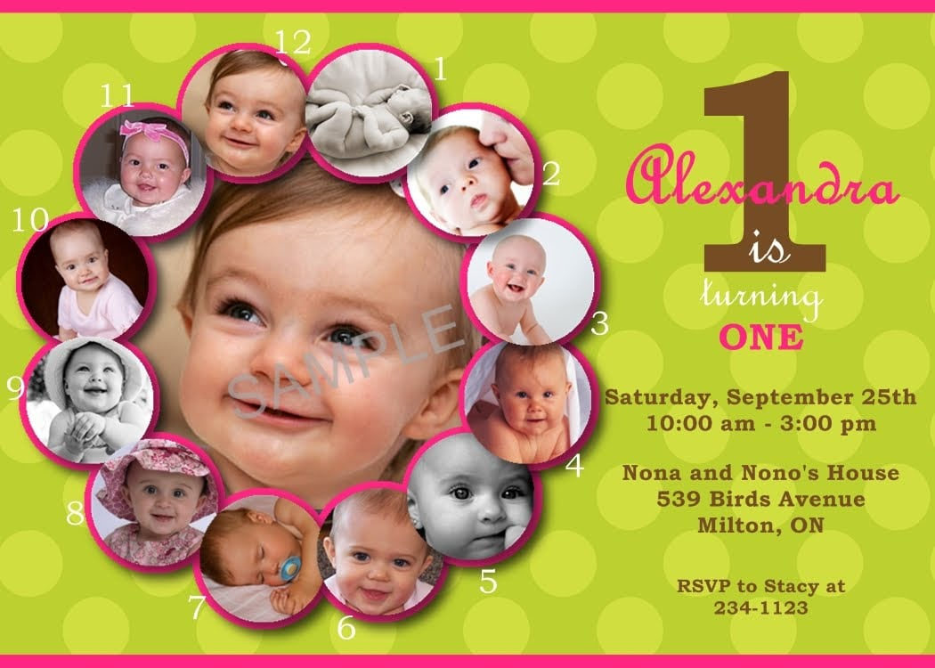 First Birthday Invitation Sample