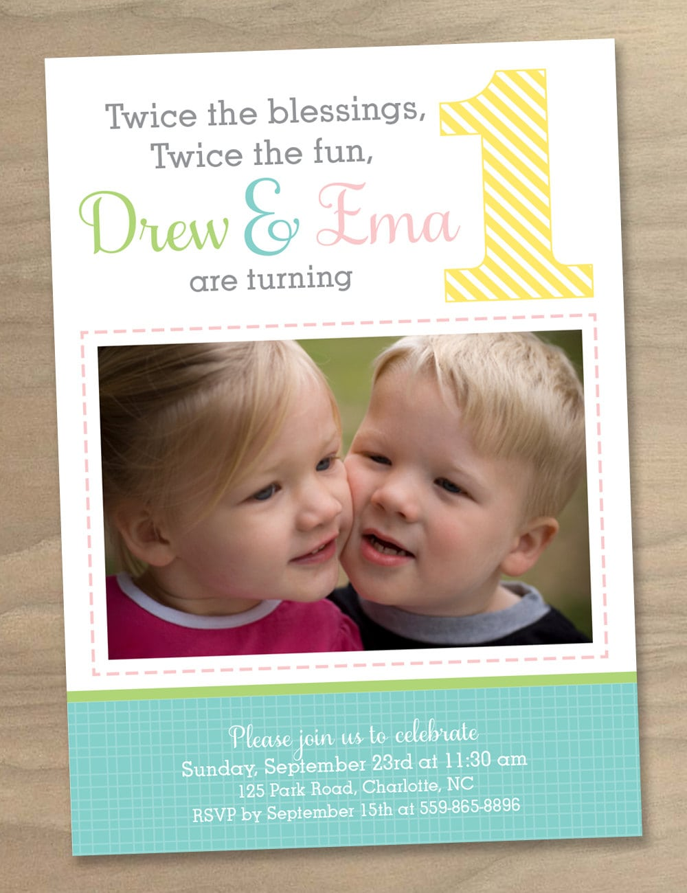 First Birthday Invitations For Boy Girl Twins