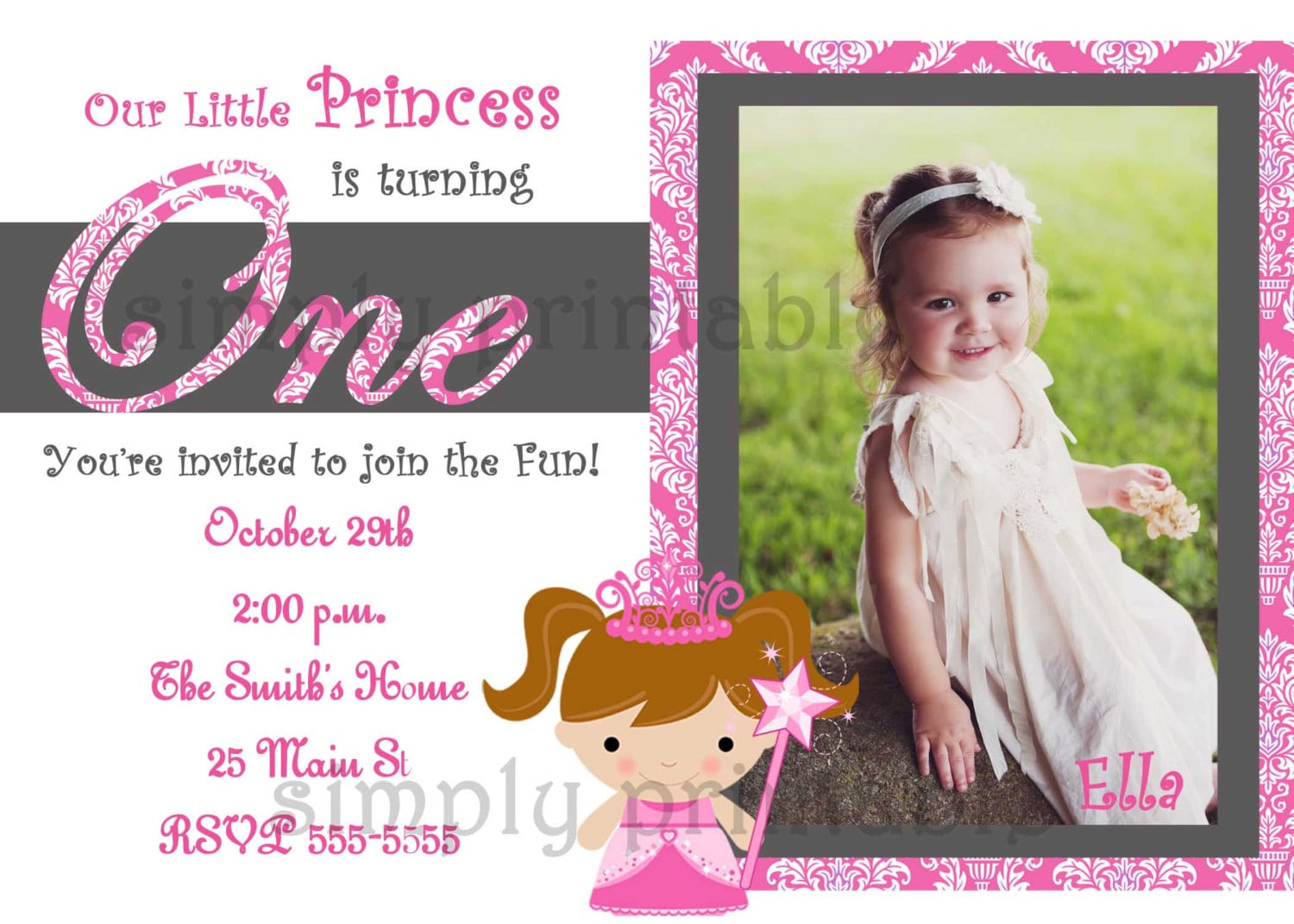 First Birthday Invitations For Girls