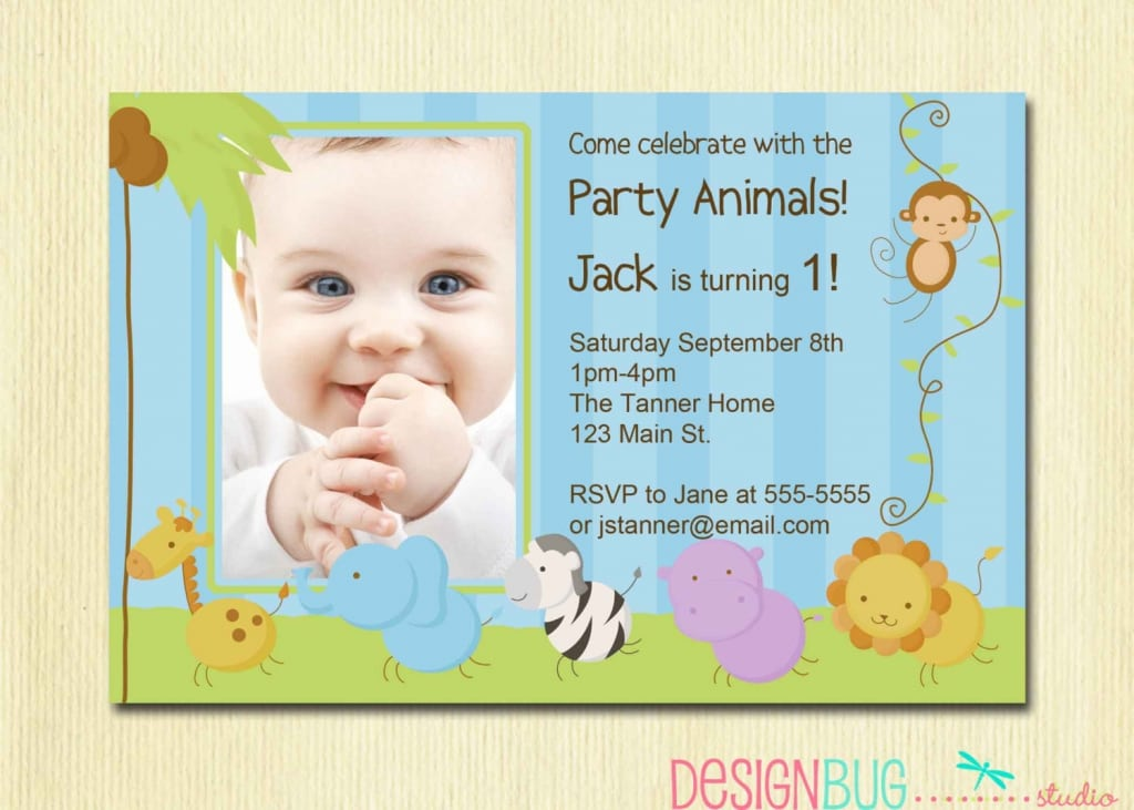 Invitation City  Free First Birthday Invitation Template
