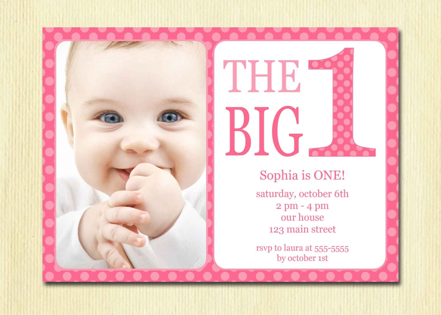 First Birthday Party Invitation Template Free