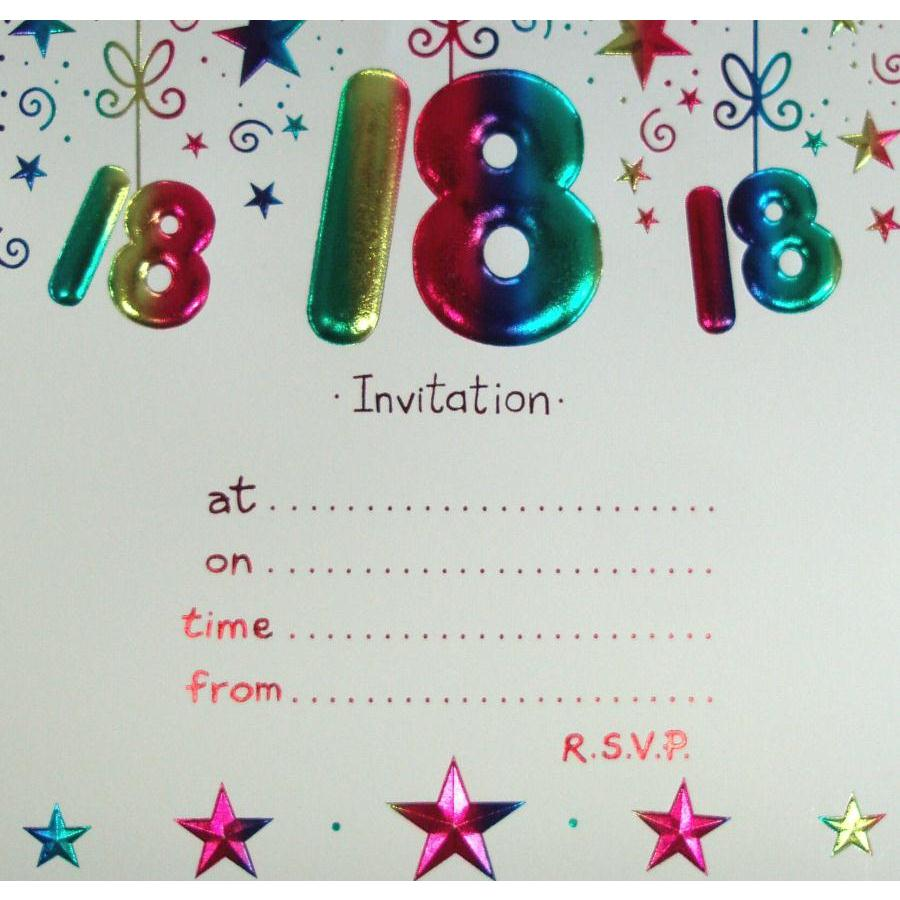 Free 18th Birthday Party Invitation Templates
