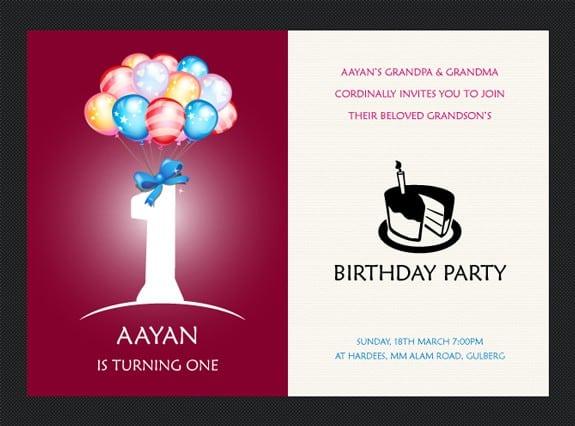 Free 1st Birthday Invitation Templates Printable 2