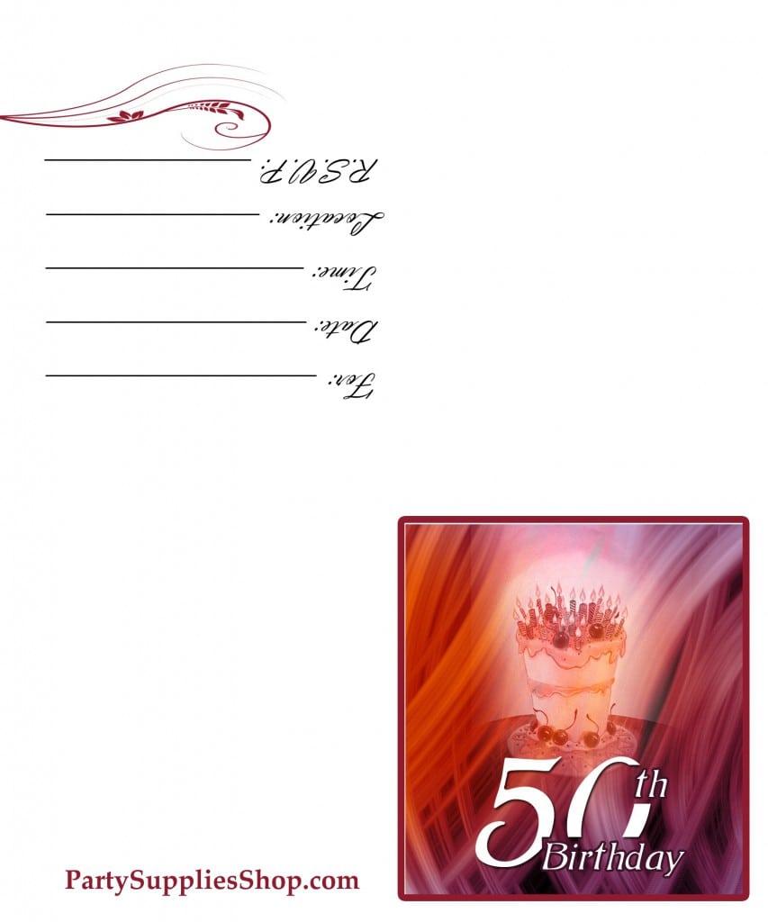 Free 30th Birthday Invitation Templates Printable 2