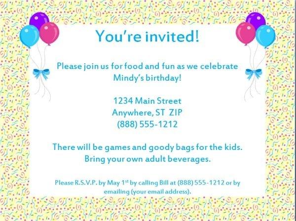 Free 30th Birthday Invitation Templates Printable 3
