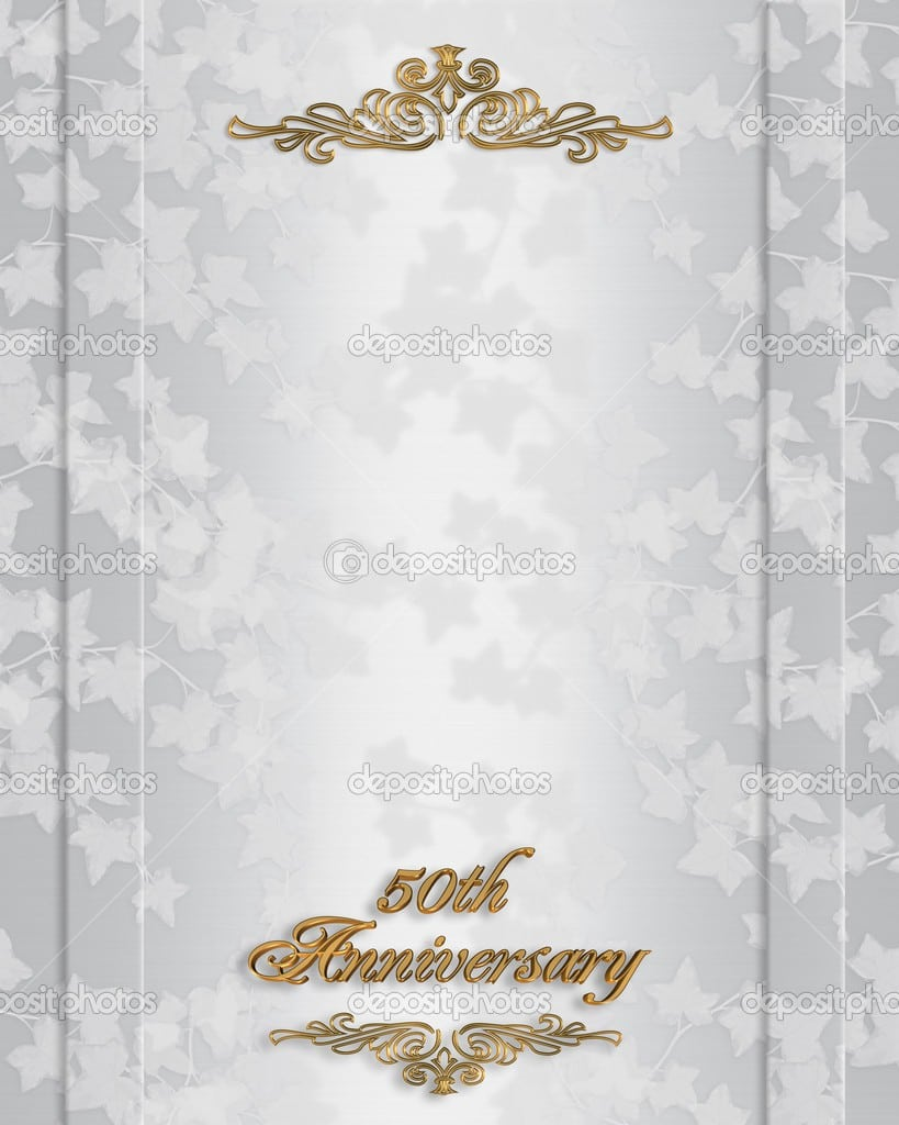 Free 50th Wedding Anniversary Invitations Templates 3