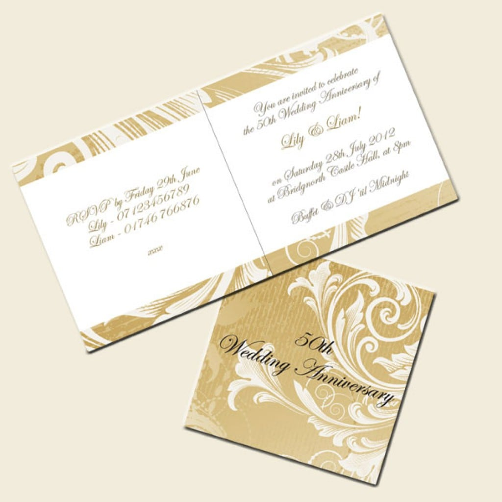 free 50th wedding anniversary invitations templates 4