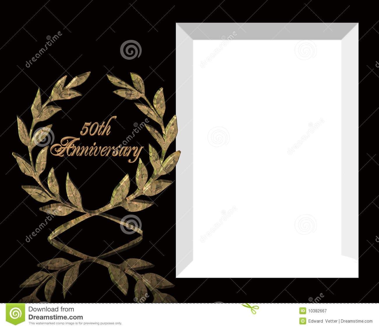 50th Wedding Anniversary Invitations Templates
