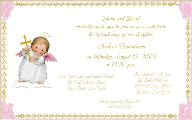 Free Baby Baptism Invitations 5